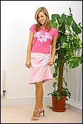 Melanie loves wearing pink as it makes her feel all girly