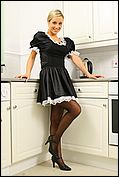 Melanie likes to wear her French maid outfit