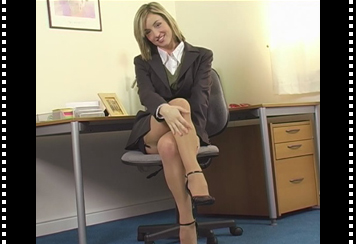 Melanie Walsh In Her Secretary Outfit